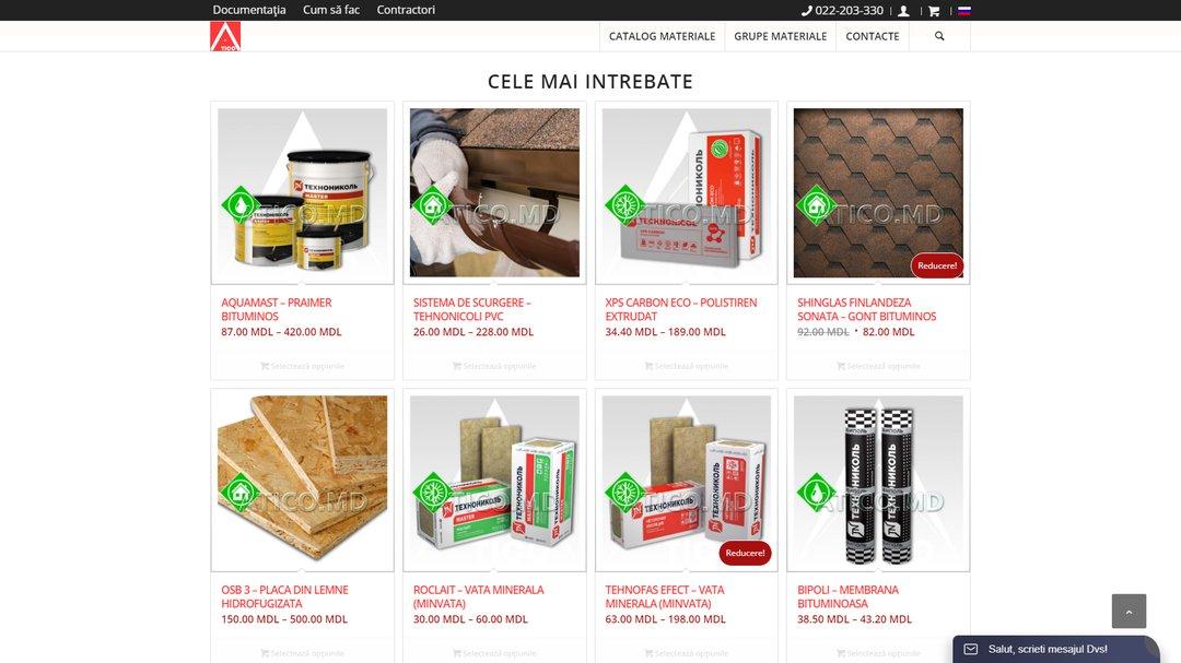 Сайт - каталог компании Атико Плюс 3