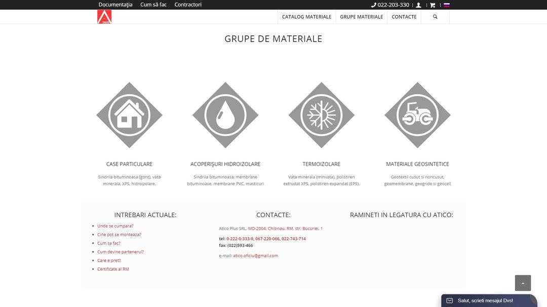 Сайт - каталог компании Атико Плюс 4