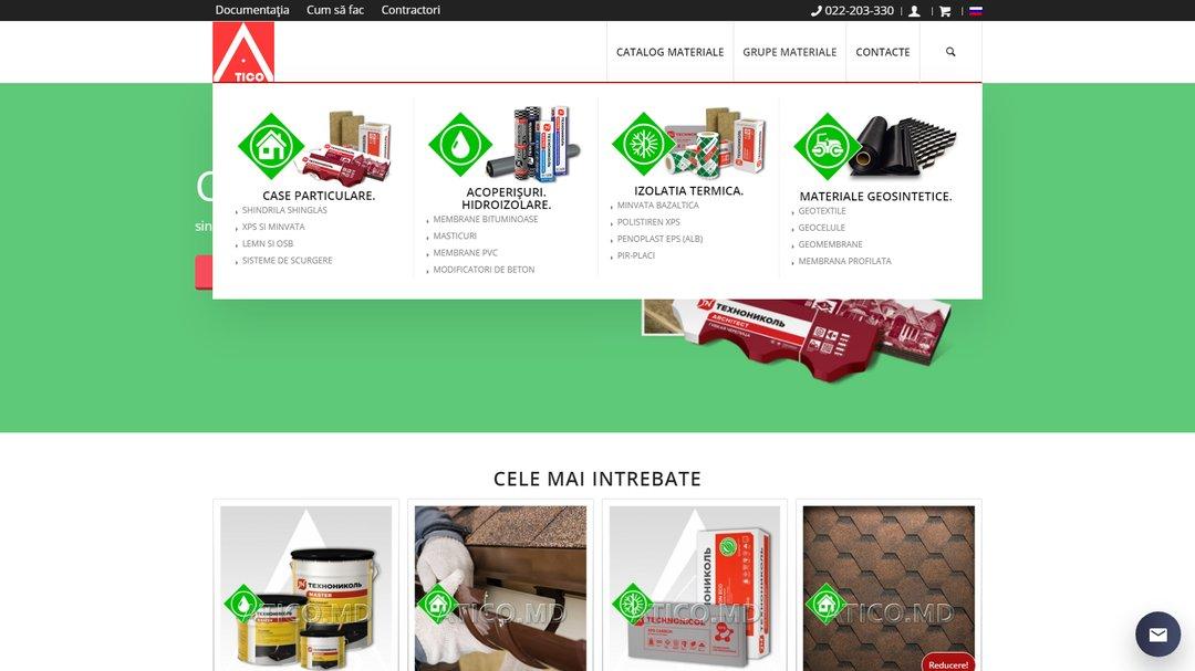 Сайт - каталог компании Атико Плюс 7
