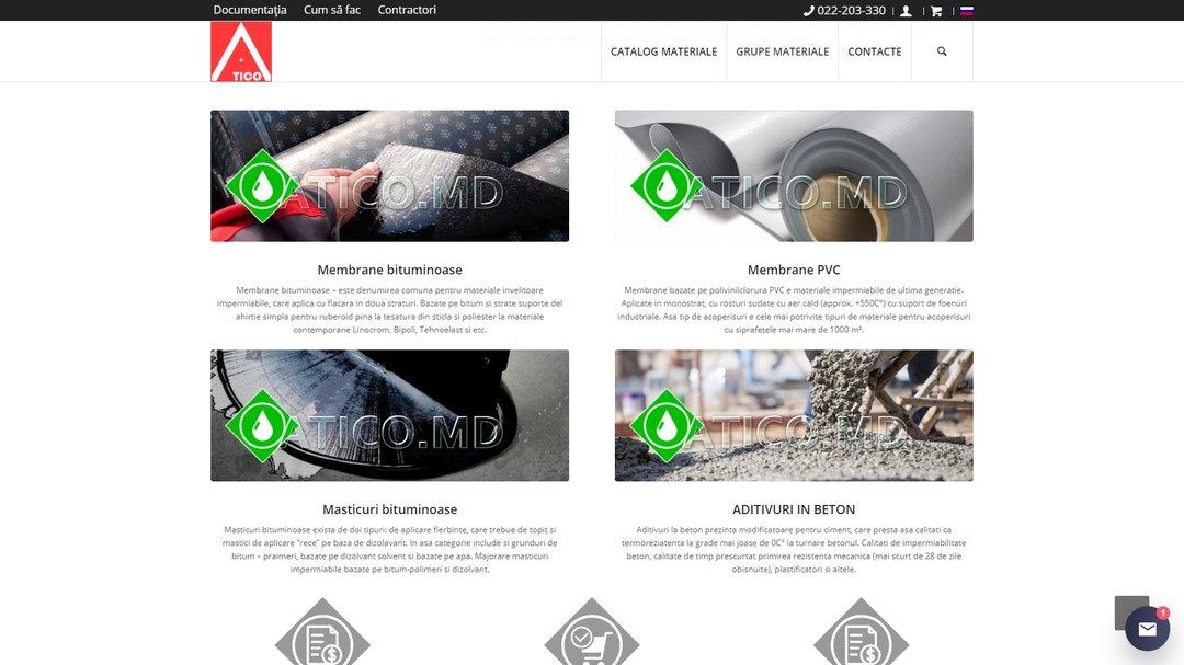 Сайт - каталог компании Атико Плюс 15