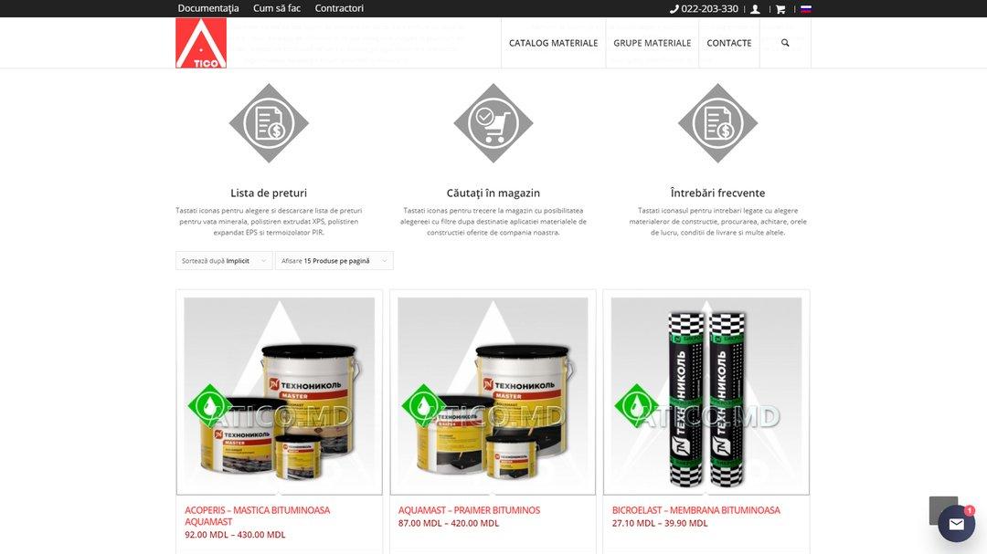 Сайт - каталог компании Атико Плюс 16