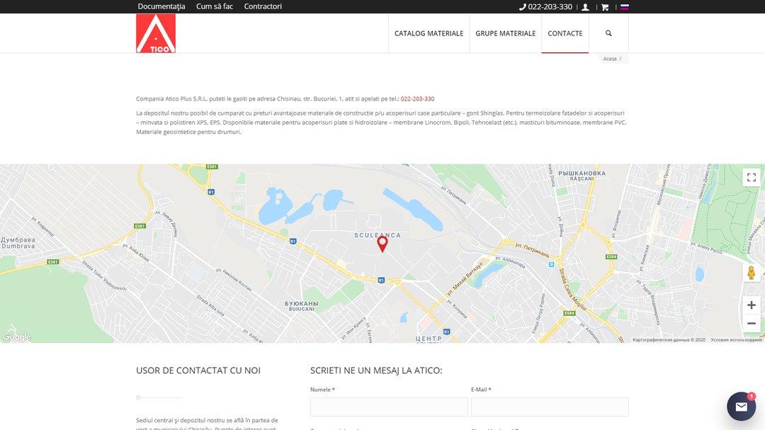 Сайт - каталог компании Атико Плюс 20
