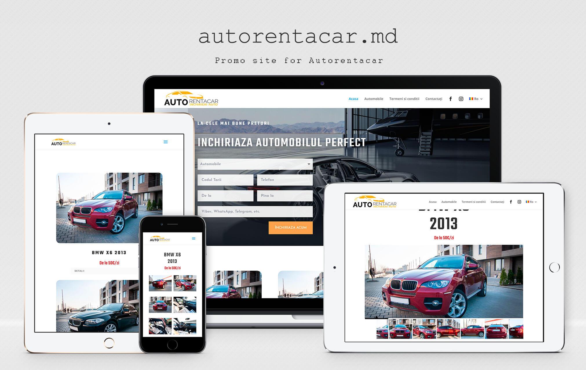 Сайт - каталог компании Autorentacar
