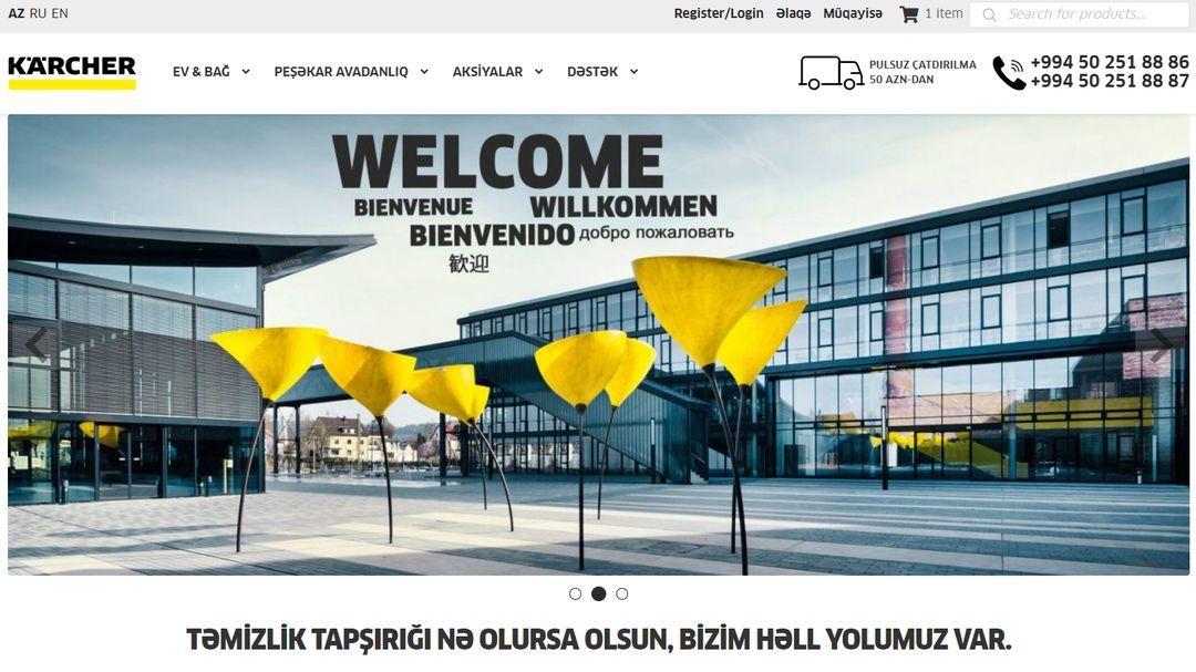 Online Store - Karcher Azerbaijan 2
