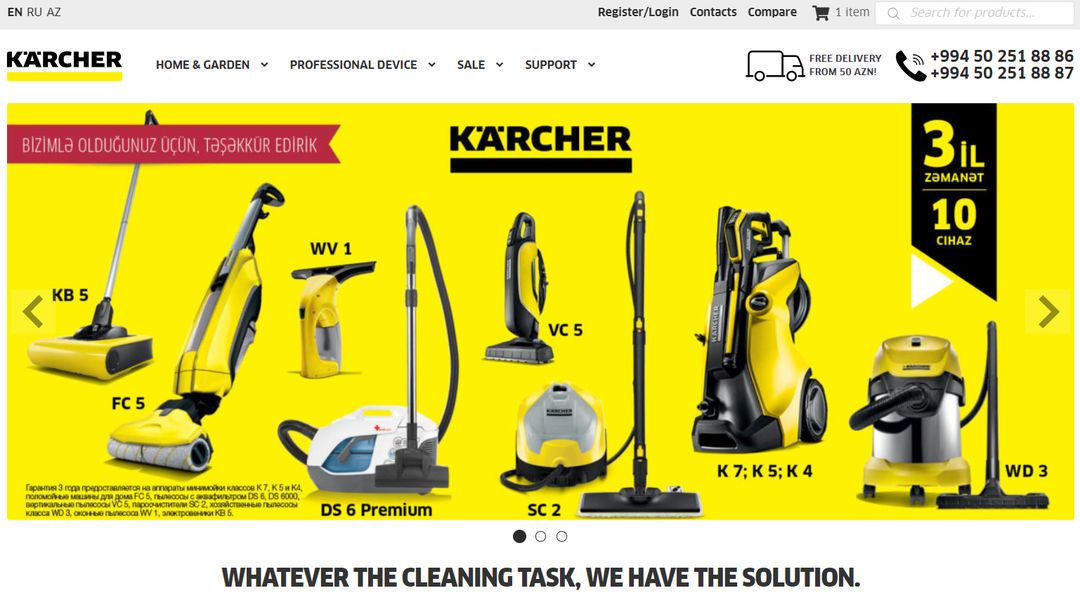 Online Store - Karcher Azerbaijan 5