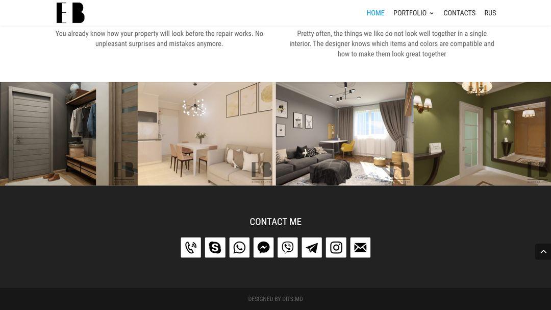 Сайт портфолио для дизайнера интерьеров 10