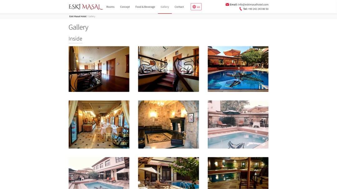 Alteration of the website of the Eski Masal hotel - 100% adaptability and speed increase from 8 to 2s! 9