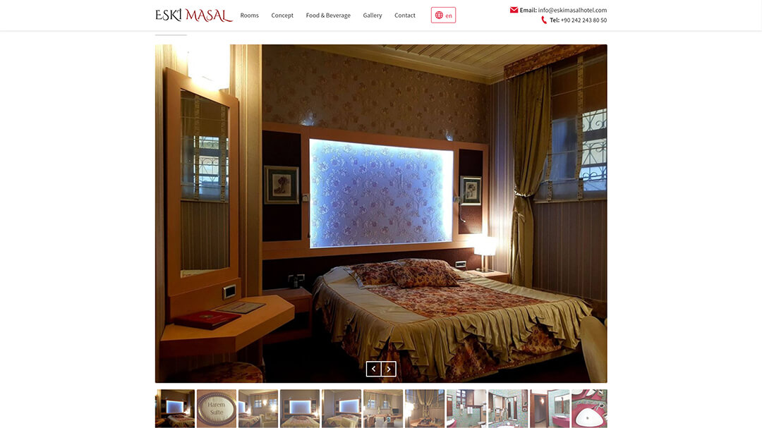 Alteration of the website of the Eski Masal hotel - 100% adaptability and speed increase from 8 to 2s! 5