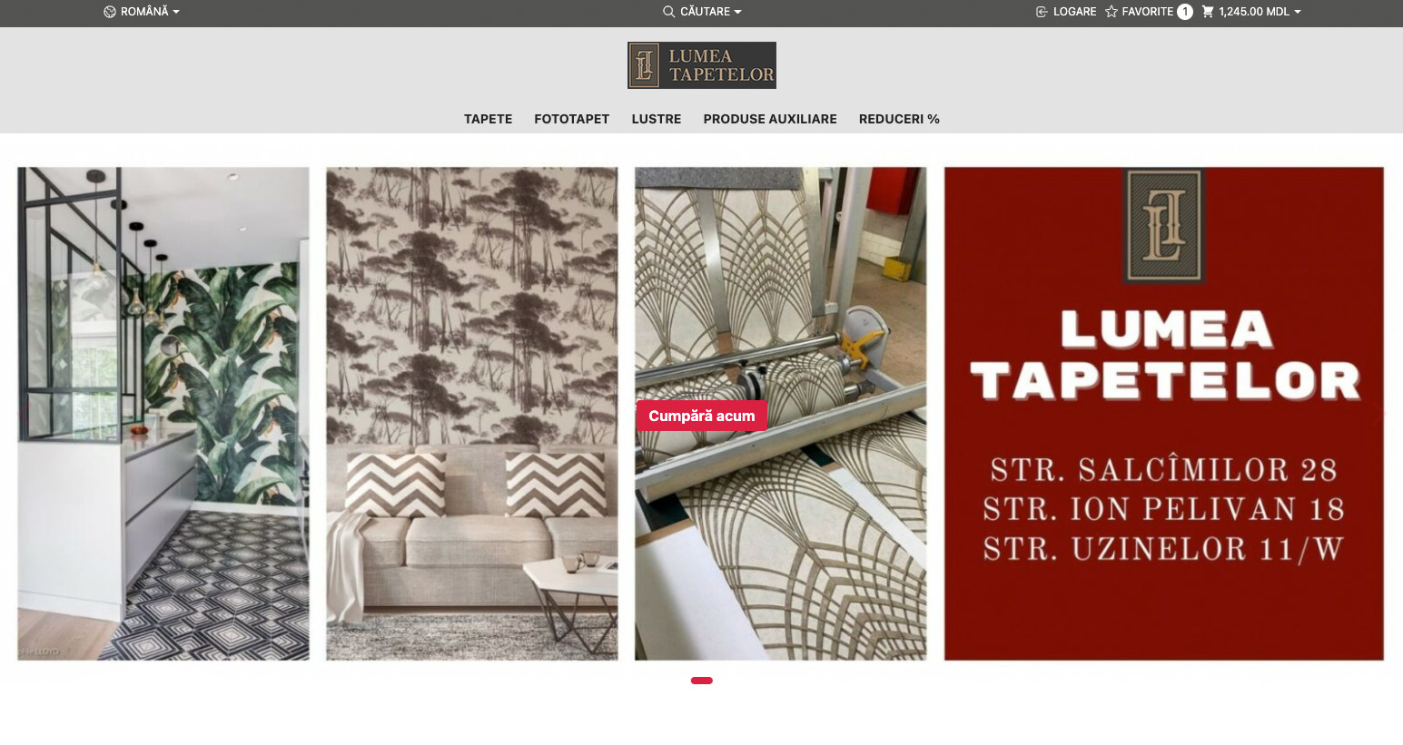 Redesign of the online store Lumea Tapetelor 9