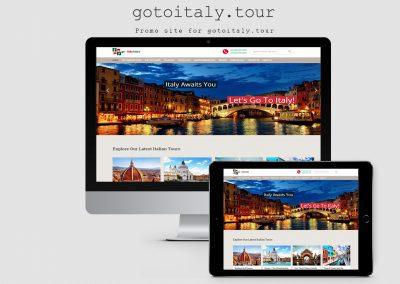 Туристический сайт — Go to Italy Tours