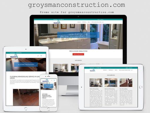 Сайт компании Groysman Construction