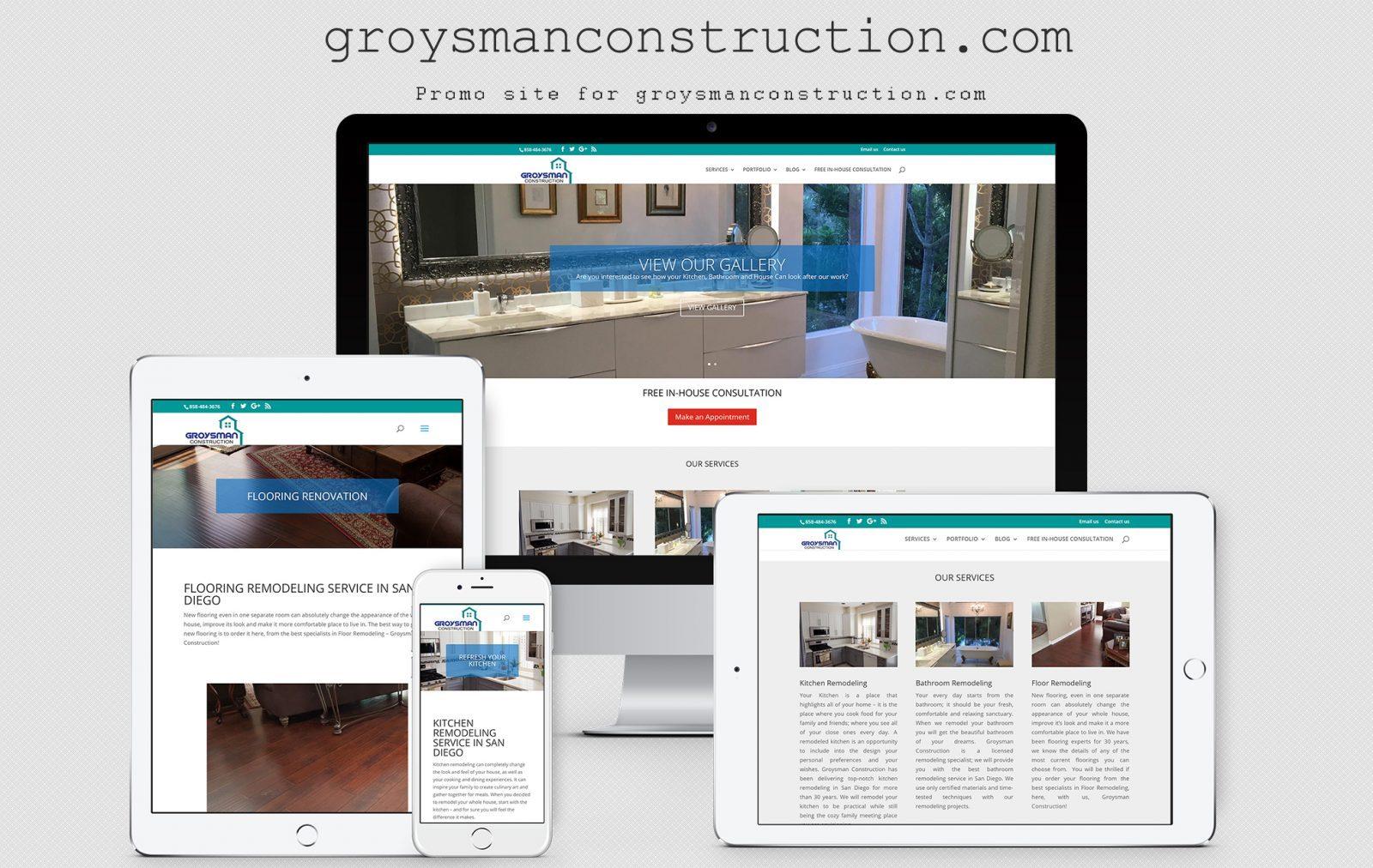 Company website Groysman Construction