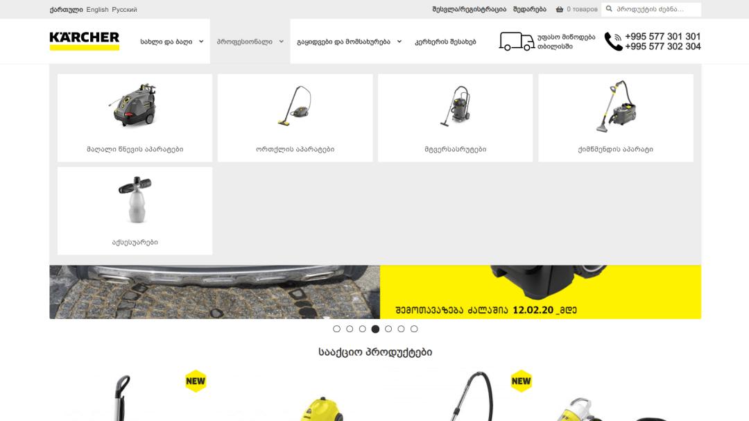 Переделка интернет-магазина Karcher Грузия 5