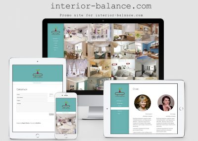 Website Design Studio – Interior Balance