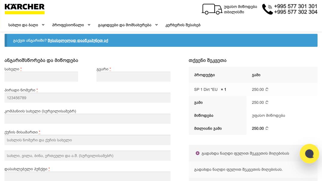 Переделка интернет-магазина Karcher Грузия 27