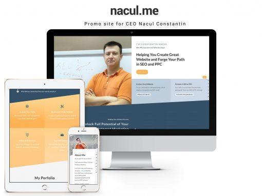 Сайт визитка для веб-разработчика, SEO/PPC специалиста