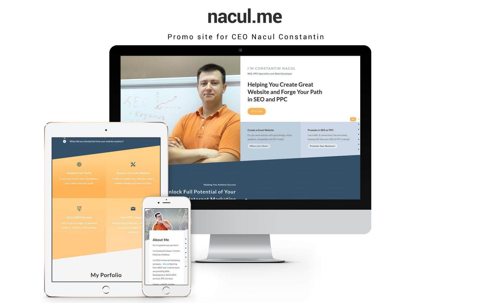 Сайт визитка для веб-разработчика, SEO/PPC специалиста 1