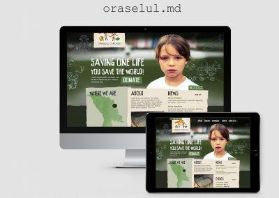 Сайт благотворительной организации — Oraselul