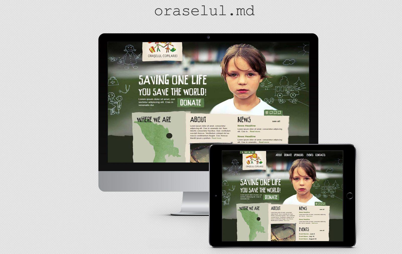 Сайт благотворительной организации - Oraselul 1