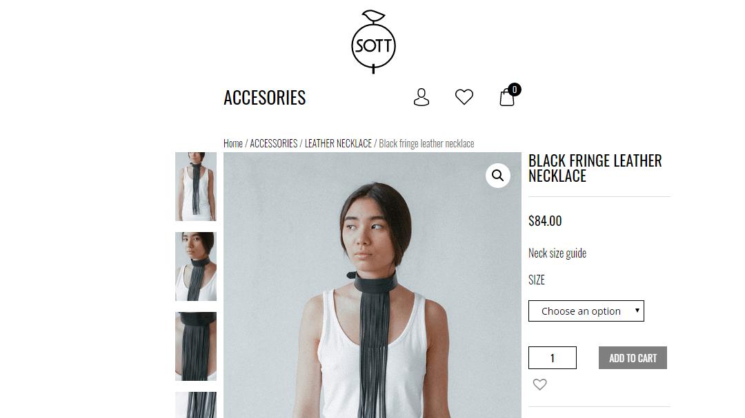 Интернет - магазин кожаных изделий SOTT 11