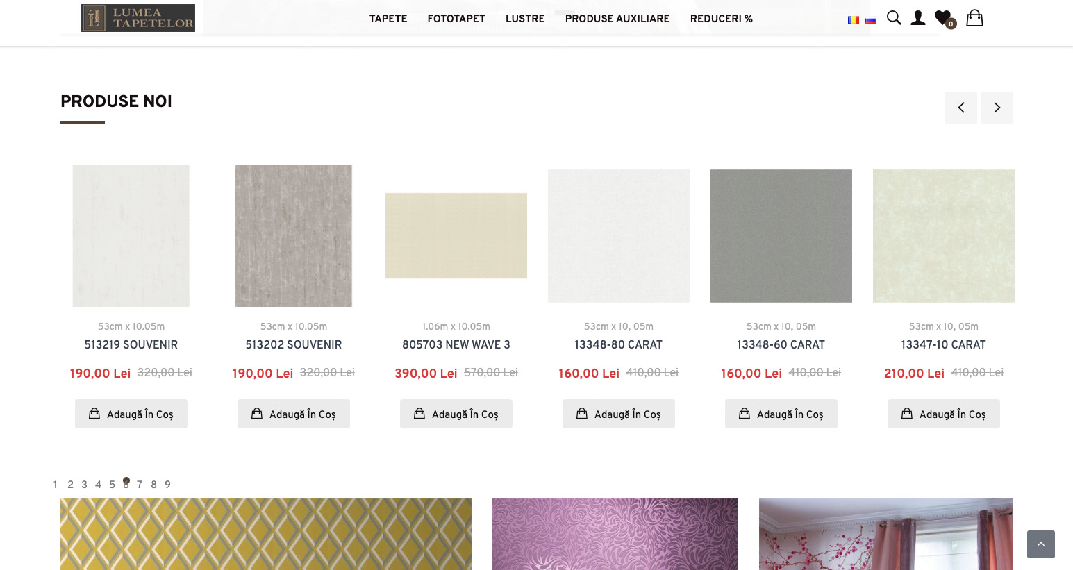 Redesign of the online store Lumea Tapetelor 3