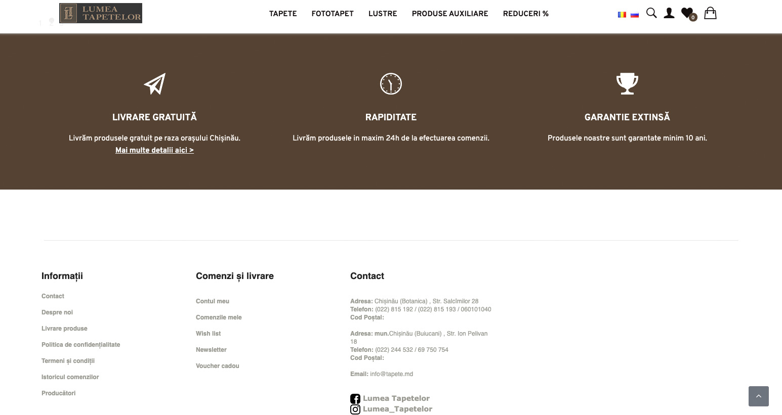Redesign of the online store Lumea Tapetelor 5