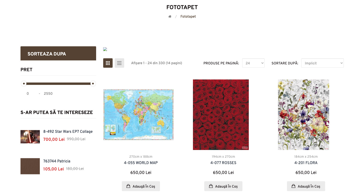 Redesign of the online store Lumea Tapetelor 7