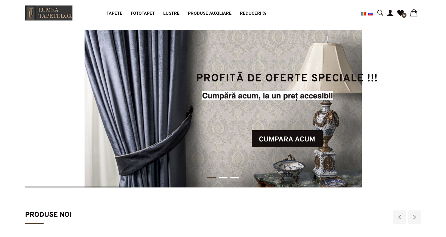 Redesign of the online store Lumea Tapetelor 2