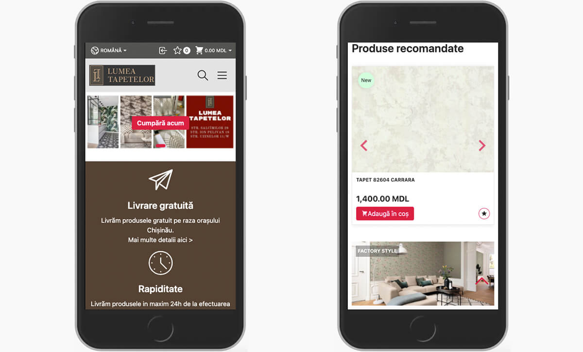 Redesign of the online store Lumea Tapetelor 29