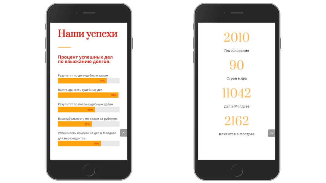 Переделка сайта коллекторского агентства GCS-Moldova 19