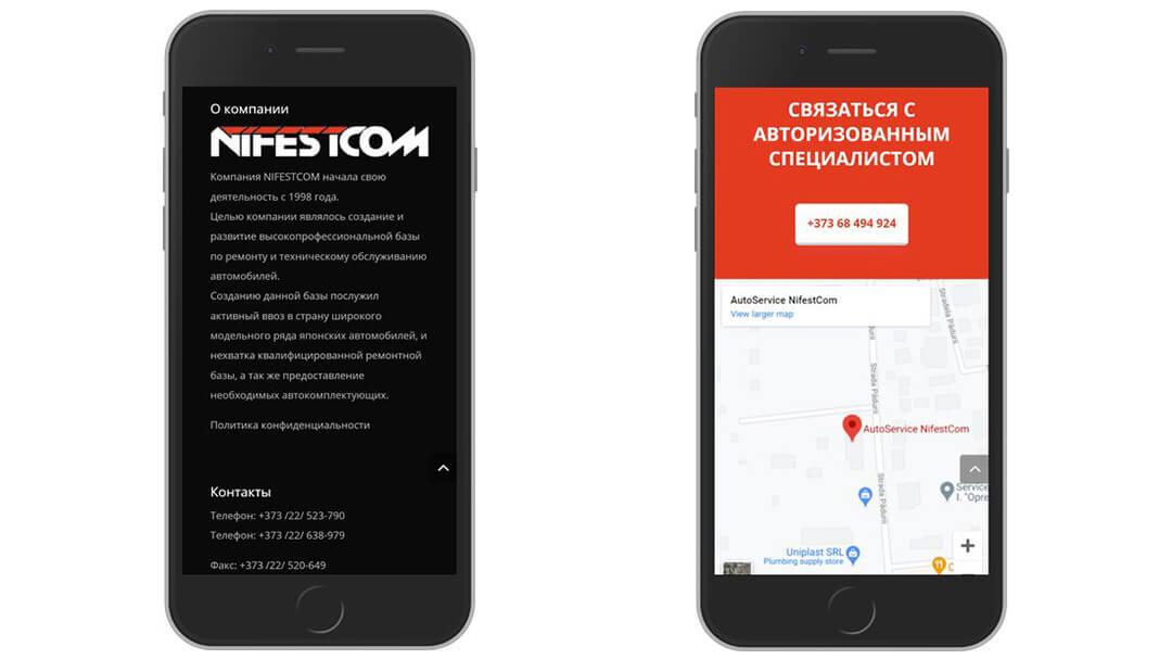 Reproiectarea site-ului companiei NIFESTCOM 31